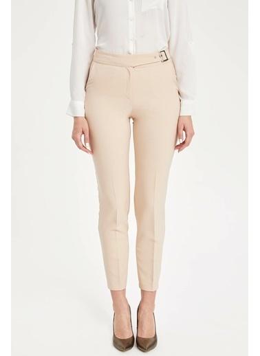 DeFacto Kemerli Slim Fit Pantolon Gri
